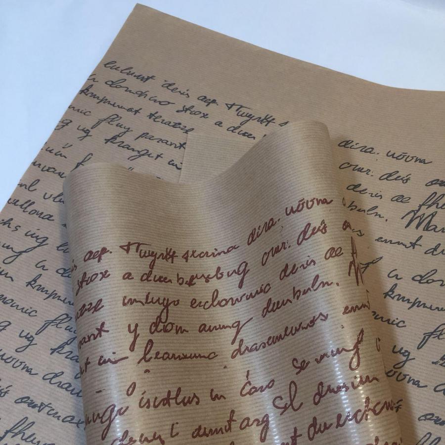 """Папір """"Французьке письмо"""" на коричневому 70см/8м"""
