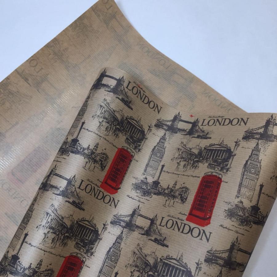 Папір «London» на коричневому 70см/8м