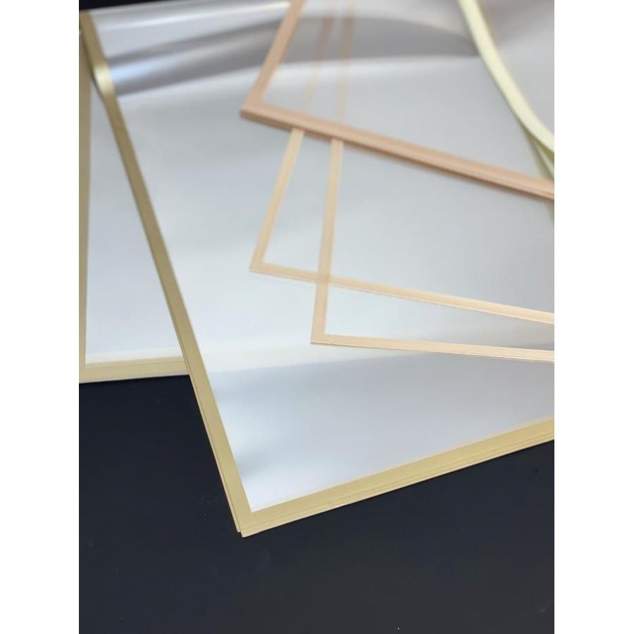 Листи прозорі з матовою каймою 60*60см